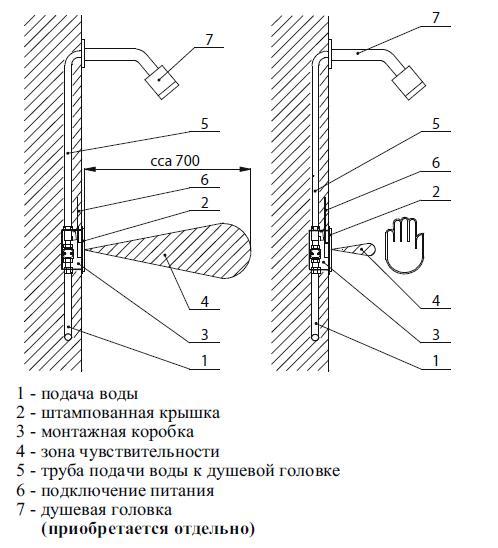 Схема включения и монтажа: